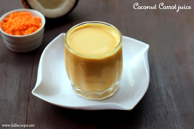 Coconut carrot juice