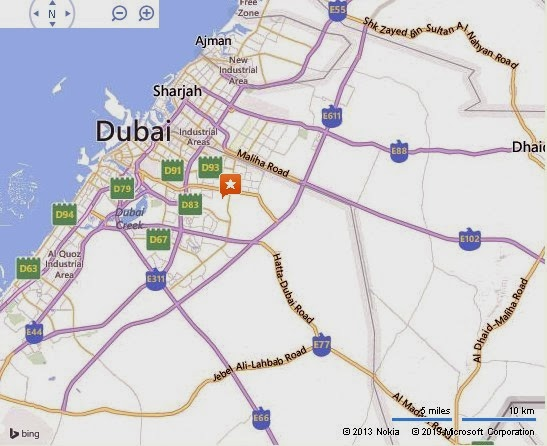 Detail Mushrif Equestrian Club Dubai Location Map Uae