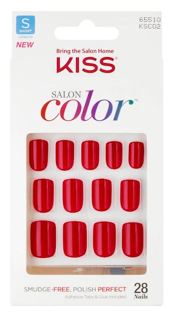 unha postica colorida vermelha