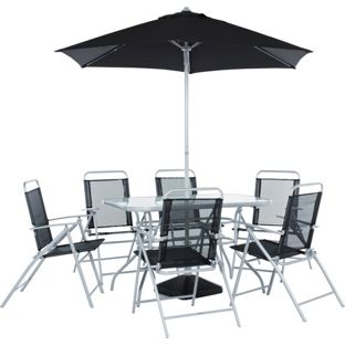 BIG DISCOUNT Garden table and chair set: Pacific 6 Seater Patio Furniture Set. £93.49