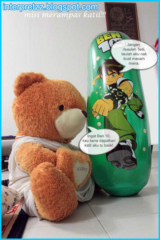Gambar Teddy Bear dan Ben 10