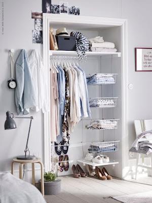 vestidor pequeño pero práctico