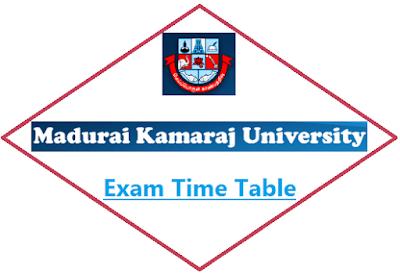 MKU Nov Dec Time Table 2019