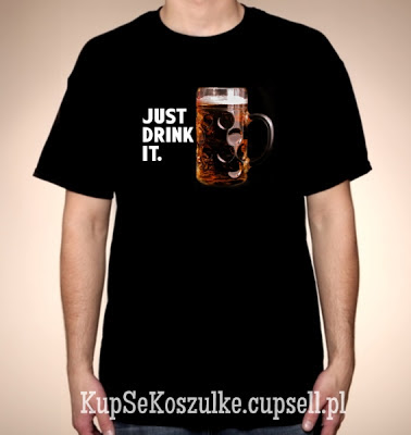 koszulka just drink it