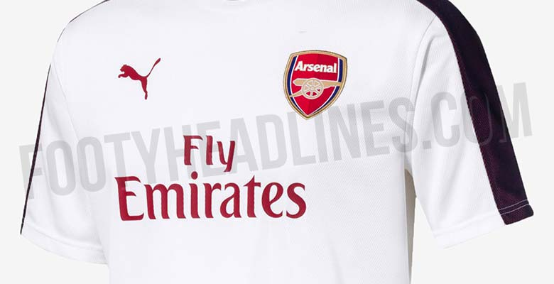 7299db07 ... Arsenal's 2018-2019 home, away and third kits, we have obtained new  images showing some of the training items to be used by the London club  next season.