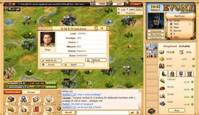evony screenshot