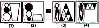 Pembahasan Soal Figural No. 32 TKPA SBMPTN 2015 Kode Naskah 602, pola gambar: objek dibalik, inversi warna, penyusutan 1/3 bagian