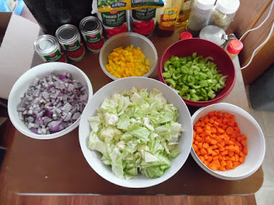 photo of the diced and shredded veggies