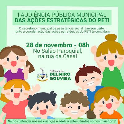 1ª Audiência Pública das AEPETI é realizada em Delmiro Gouveia