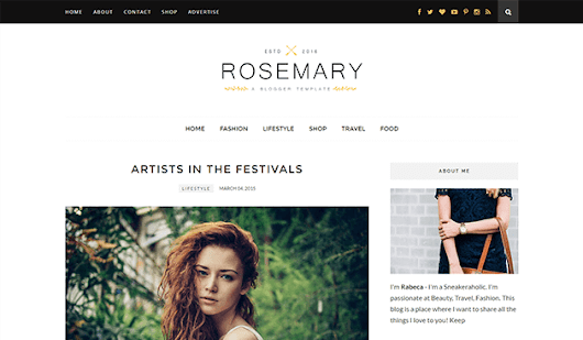 Rosemary - Minimal & Responsive Blogger Template