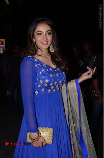 Telugu Actress Tejaswi Madivada Pos in Blue Long Dress at Nanna Nenu Na Boyfriends Audio Launch  0037.JPG