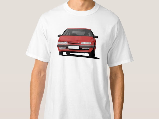 Citroen XM t-shirts in red