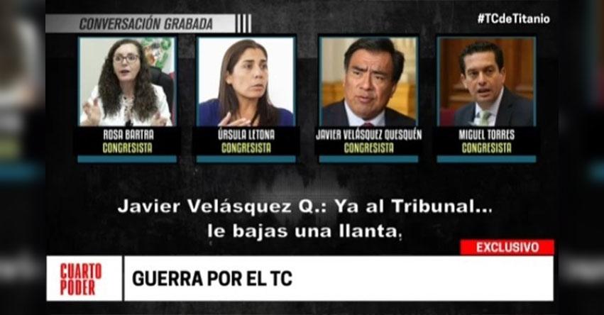ESCÁNDALO: APRA y Fuerza Popular al descubierto sobre la elección de magistrados al Tribunal Constitucional - TC [VIDEO]
