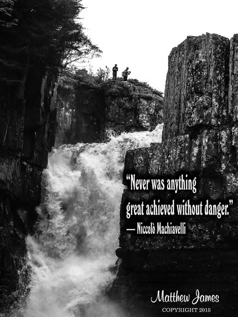 """""""Never was anything great achieved without danger."""" ― Niccolò Machiavelli"""