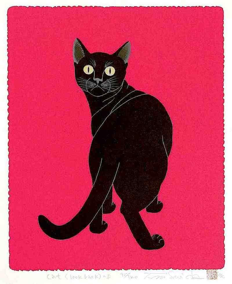 Tadashige Nishida, cat look back