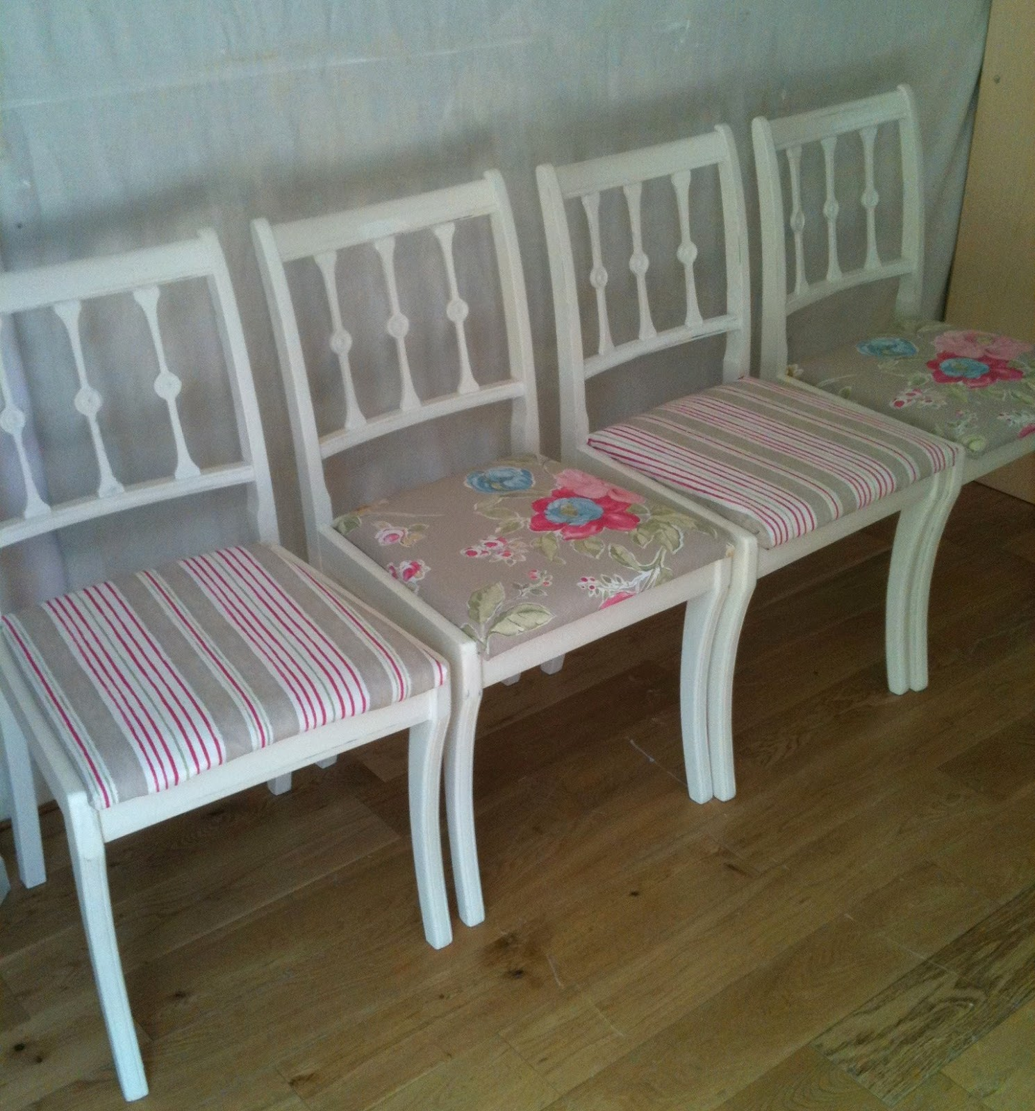 Upcycled Dining Room Chairs Chair Covers And Linens Bowiebelle Vintage Furniture
