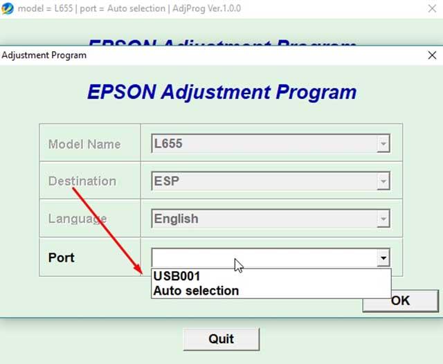 reset Epson EcoTank L655