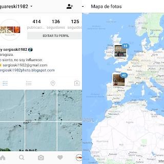 Mapa de fotos Instagram - squareski1982.