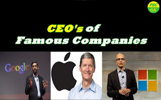 List of CEOs of Popular Indian and Multi-National Companies