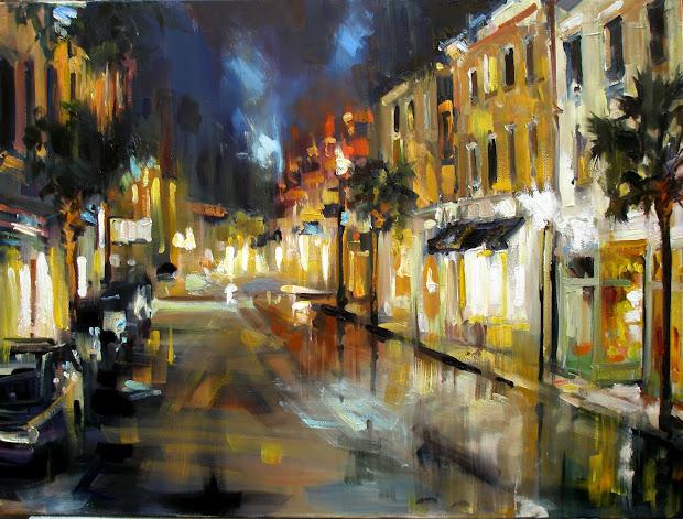 """Rick Reinert - """"studies In Sunlight And Rain"""" """" Charleston Sc Painting"""