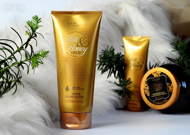 Oriflame Wygładzający scrub do ciała Milk & Honey Gold  recenzja