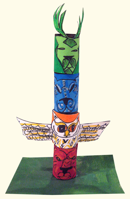 Native American Activity - Totem Pole