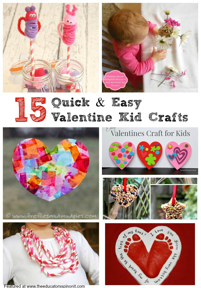 Easy valentine 39 s day crafts for kids the educators 39 spin for Valentine party crafts for school
