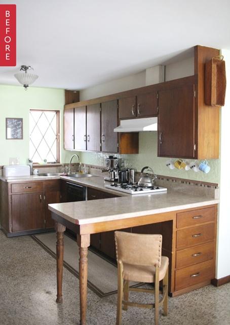decoração cozinha antes depois