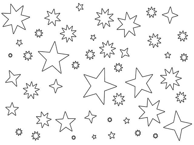 ciel étoilé à colorier