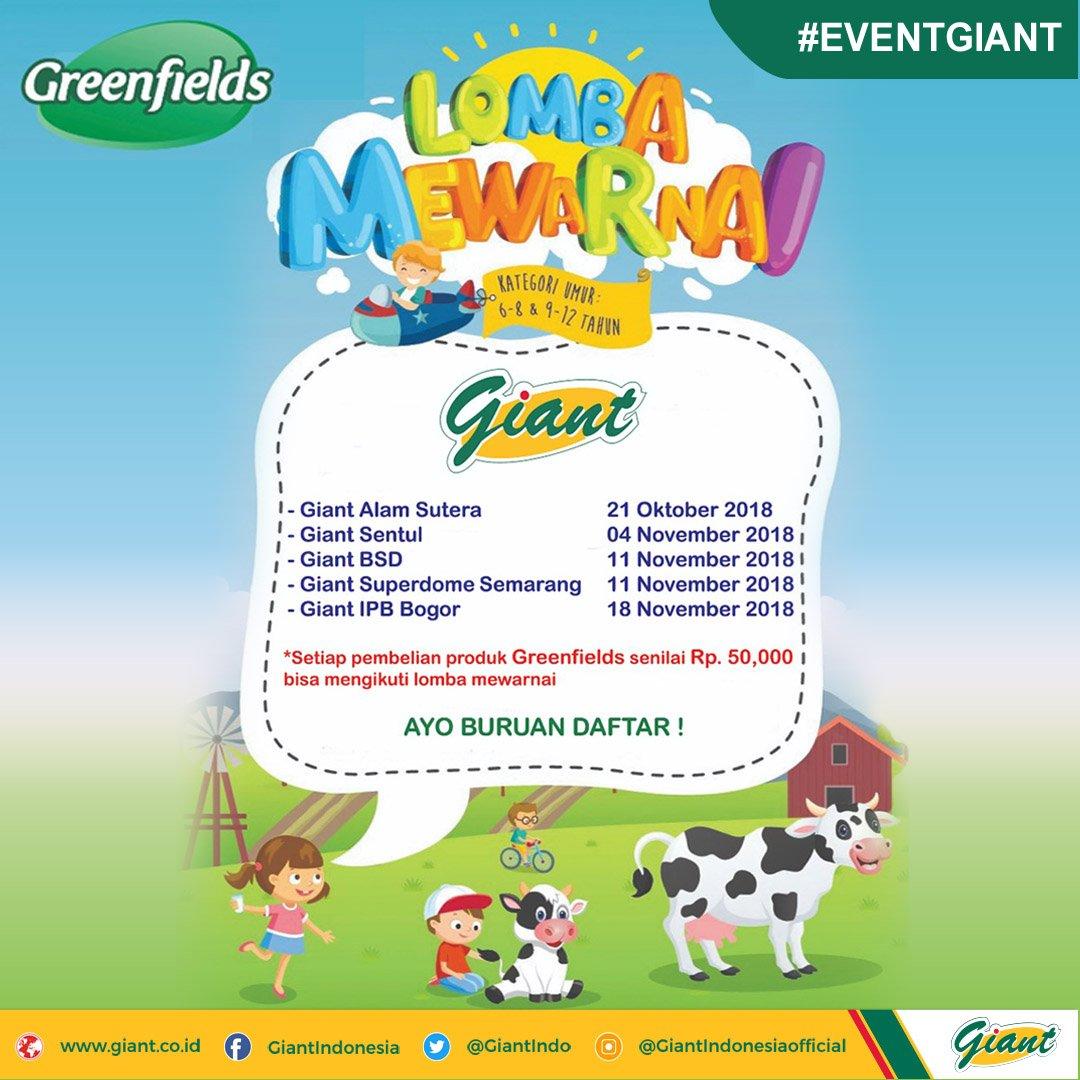 Giant - Promo Event Lomba Mewarnai Besama Greenfields (Mulai 21 Okt 2018)