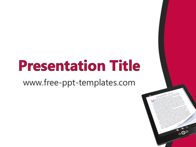 Ebooks ppt template for Ebook template powerpoint