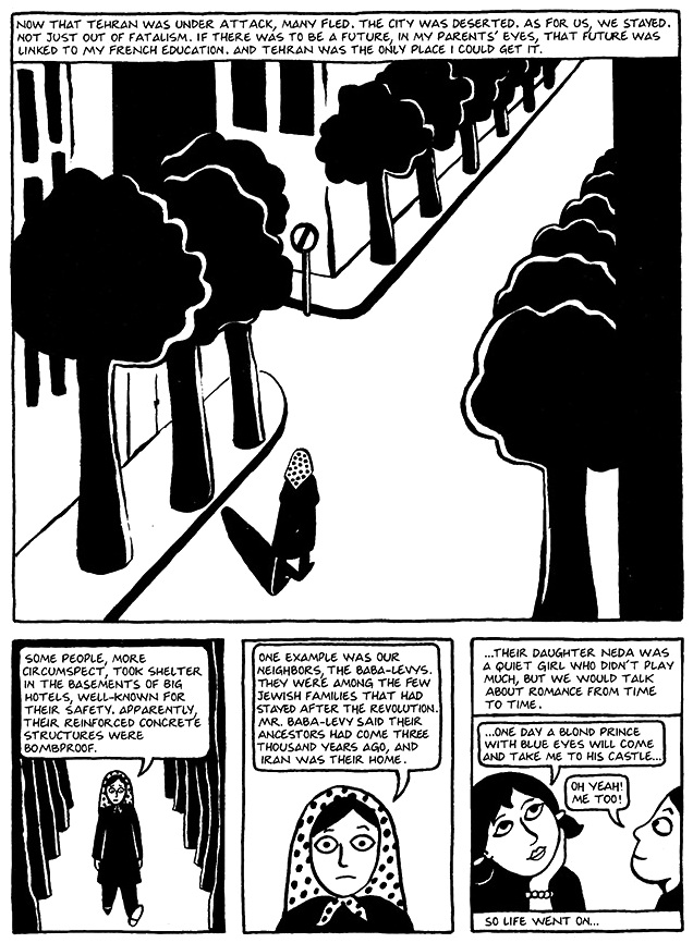 Read Chapter 18 - The Shabbat, page 135, from Marjane Satrapi's Persepolis 1 - The Story of a Childhood