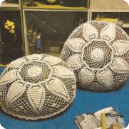 Cojines Edelweiss a Crochet