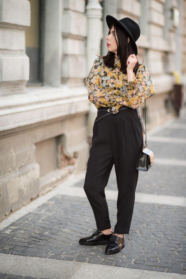 elegancki outfit w stylu boho i retro