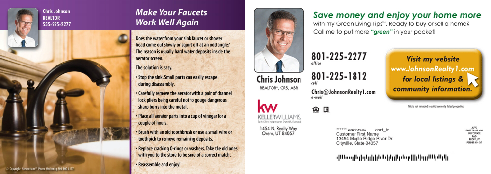 Postcards For Realtors Have Long Been A Standard Advertising Practice The Mail System Has Always Convenient Way To Get Messages And Ideas