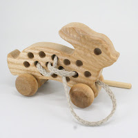 TTT41, Threading Rabbit, Lotes Wooden Toys