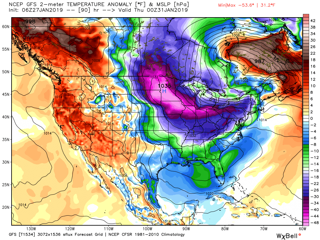 Mind Numbing Cold This Week In The Midwest/Great Lakes Areas