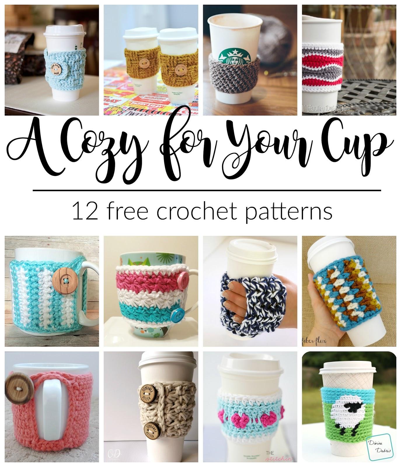Fiber Flux: Cup Cozies! 12 Free Crochet Patterns...