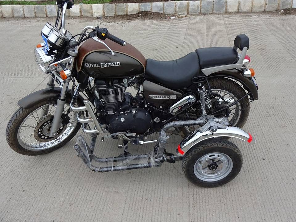 Side Wheel Attachment For Royal Enfield Thunderbird 350