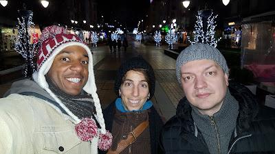 With our host, Nikolay, on Vitosha street