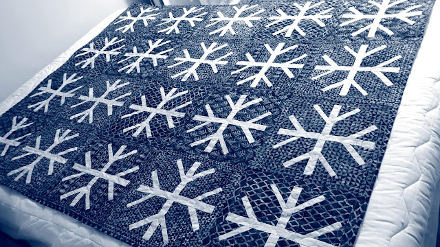 Snowfall quilt using Island Batik fabrics