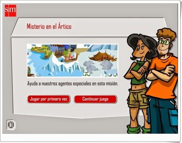 http://recursoseducativosdeprimaria.blogspot.com/2012/08/misterio-en-el-artico-5-primaria.html