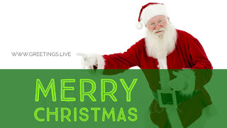 Merry Christmas Santa greeting card