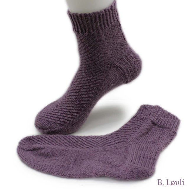 strikkeoppskrift på Løvli Sokken