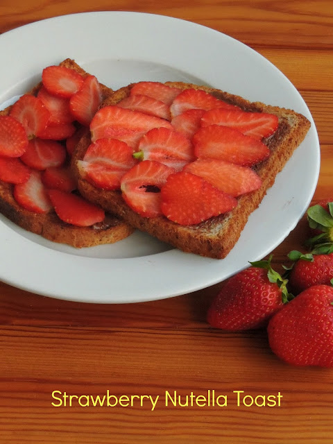 Nutella strawberry Toast
