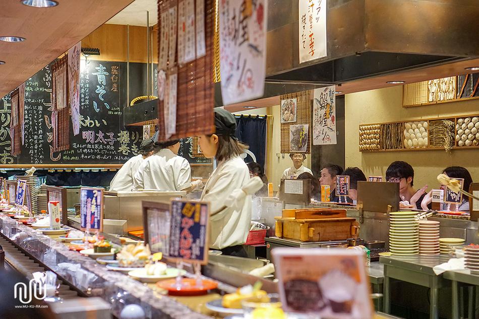 ร้าน Nemuro Hanamaru ซูชิสายพาน JR Sapporo