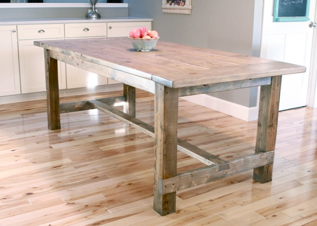DIY, dining table, wood, pinterest, how to, britney dearest, harvest, farmhouse, plans, ana white