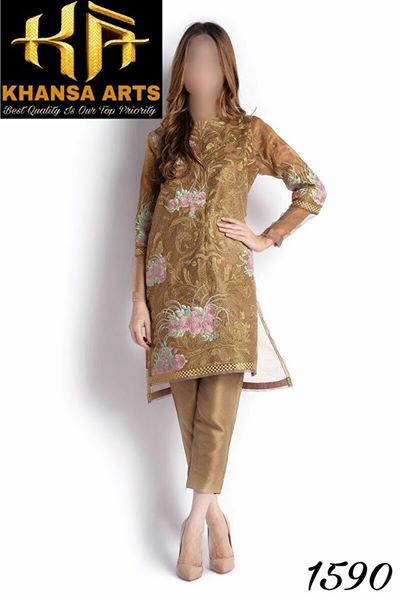 Cambric Cotton Embroidered Kurti