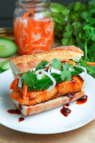 Vietnamese Caramel Salmon Banh Mi
