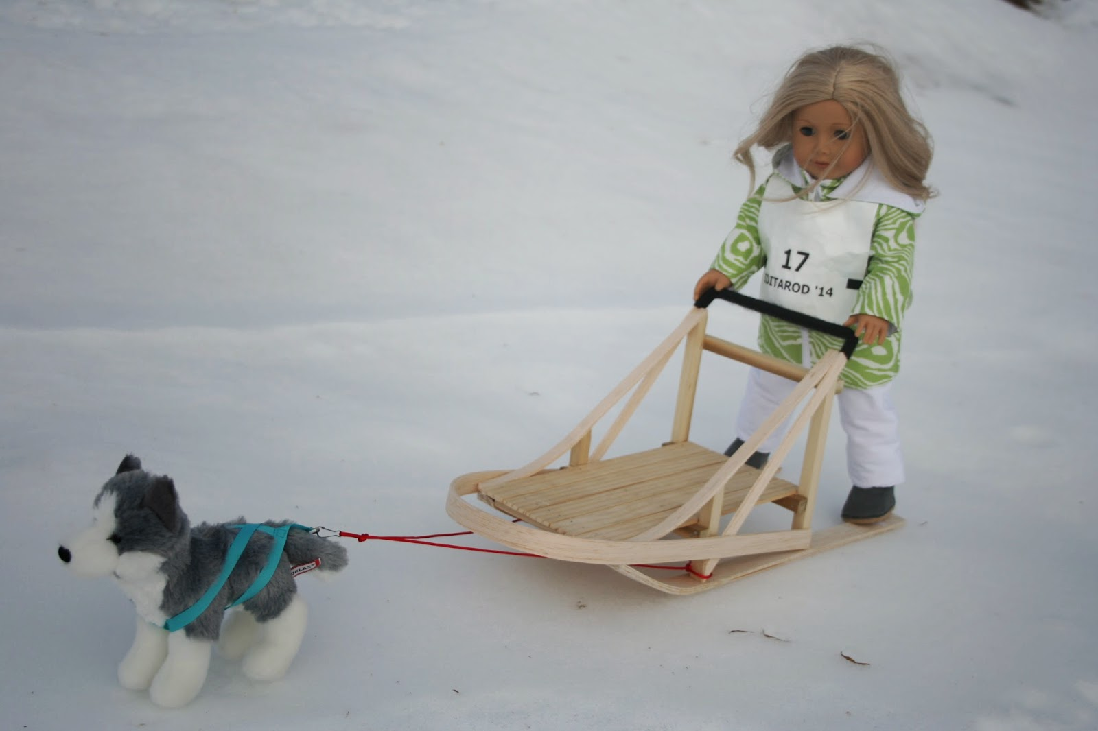 Arts And Crafts For Your American Girl Doll Dog Sledding